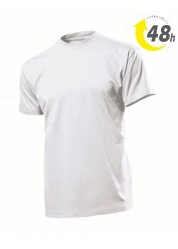 Unisex környakas póló, fehér  - 48 órán belül Önnél!*