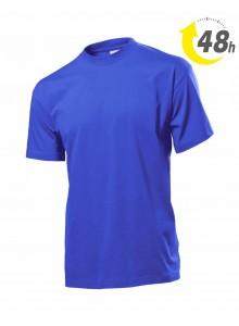 Unisex környakas  póló, royal kék - 48 órán belül Önnél!*