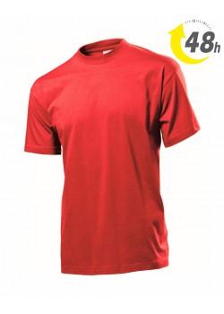 Unisex környakas póló, piros  - 48 órán belül Önnél!*