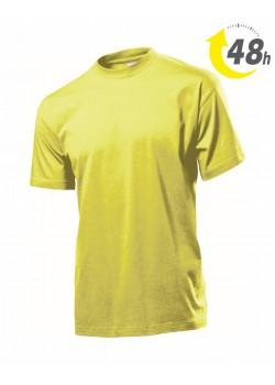 Unisex környakas póló, citromsárga- 48 órán belül Önnél!*