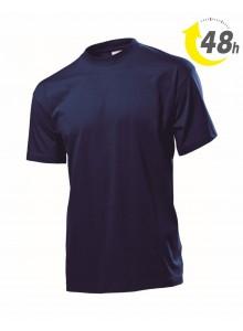Unisex környakas póló, sötétkék  - 48 órán belül Önnél!*