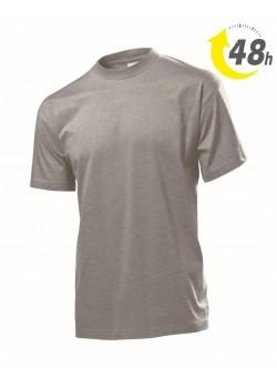 Unisex környakas póló, melírszürke  - 48 órán belül Önnél!*