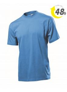 Unisex környakas póló, világoskék- 48 órán belül Önnél!*