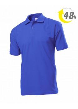 Unisex piqué tenisz póló, royal kék - 48 órán belül Önnél!*