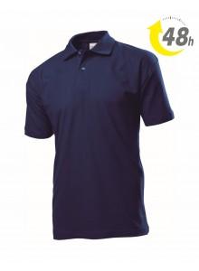 Unisex piqué tenisz póló, sötétkék - 48 órán belül Önnél!*