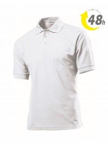 Unisex piqué tenisz póló, fehér - 48 órán belül Önnél!*
