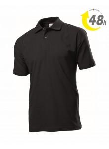 Unisex piqué tenisz póló  fekete - 48 órán belül Önnél!*