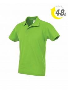 Unisex piqué tenisz póló, kiwizöld - 48 órán belül Önnél!*