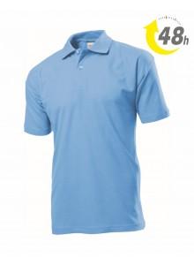 Unisex piqué tenisz póló, világoskék - 48 órán belül Önnél!*
