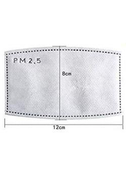PM 2.5 aktív szénszűrős betét